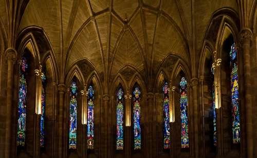 Abbey Glass Religion Architecture Church Building