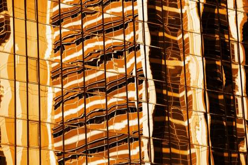 Abstract Architecture Background Orange Building