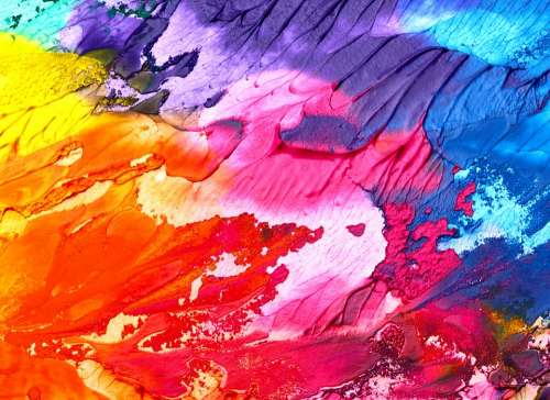 Abstract Art Background Paint Texture Colorful