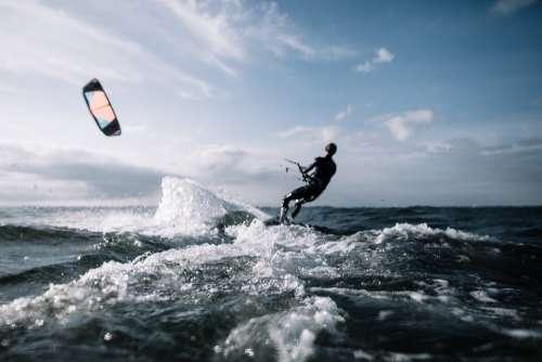 Action Kite Surfing Kiting Adventure Kite Leisure