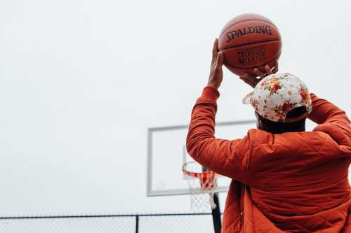 Action Basketball Ball Athlete Cap Court Fun
