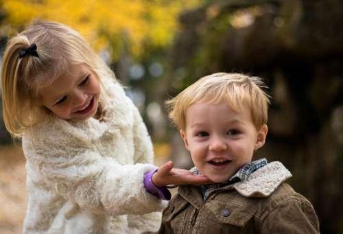 Adorable Boy Children Cute Fun Girl Happiness
