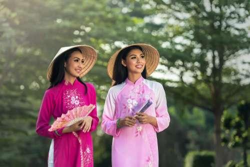 Adult Asia Women Pretty Girl Hats Lady People
