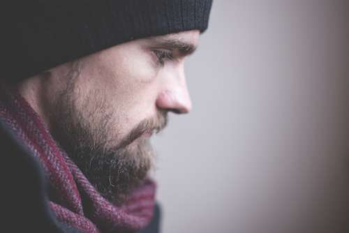 Adult Beard Face Fashion Guy Man Model Profile