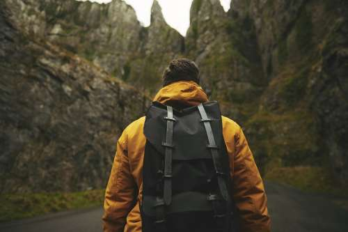 Adult Adventure Backpack Male Man Outdoors Person