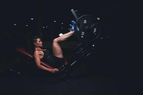 Adult Gym Athlete Dark Energy Exercise