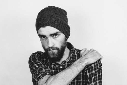 Adult Beanie Beard Cap Casual Checkered