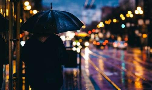 Adult Blur Bokeh City Evening Light Man Outdoors