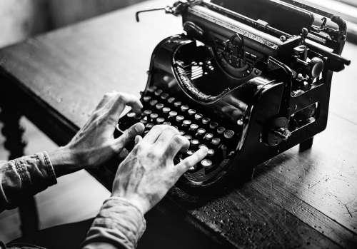 Typewriter Old Alphabet Typing Antique