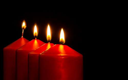 Advent Advent Candles Christmas Jewelry Candles