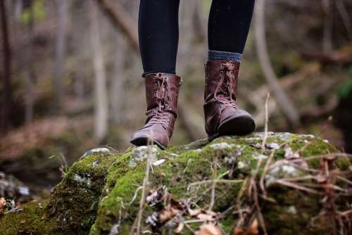 Adventure Boots Girl Hiking Nature Hike Outdoors