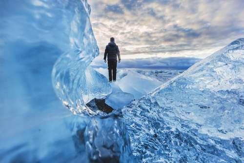 Adventure Cold Frozen Glacier Ice Man Outdoors