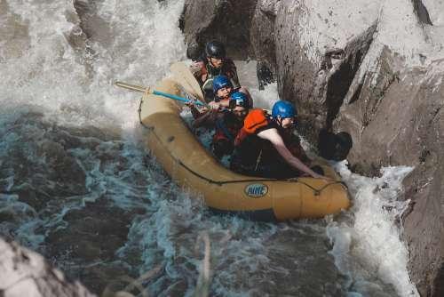 Adventure River Rafting Kayak Landscape Nature