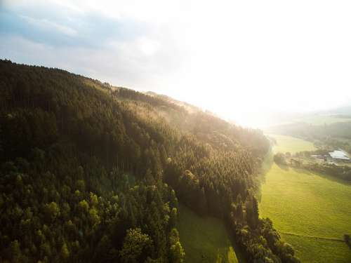 Aerial View Forest Sauerland Landscape Nature