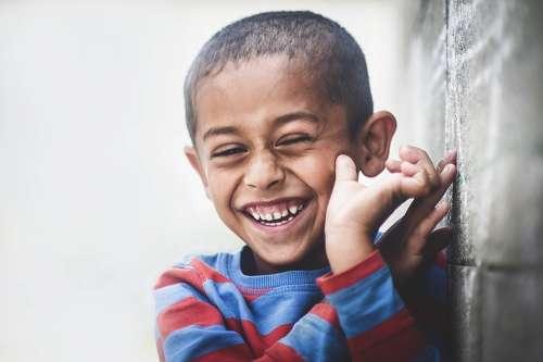 Africa Boy Child Happiness Laugh Portrait Smile