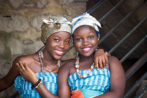 African Women Africa Girls Sisters Culture Smile