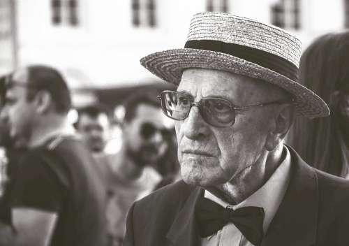 Aged Elderly Macro Man Old Person Portrait