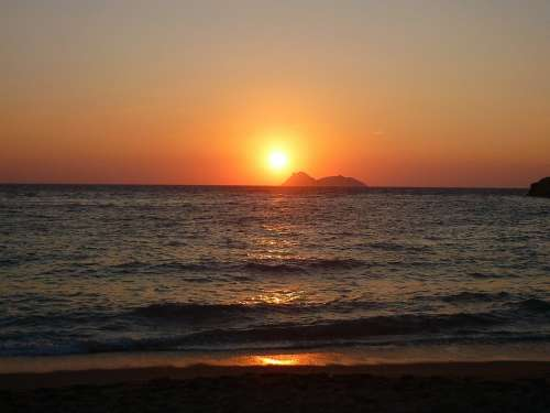Agia Galina Crete Sunset