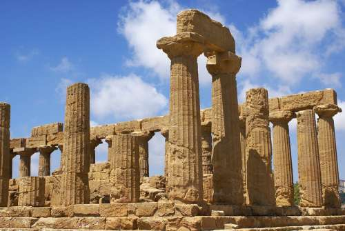 Agrigento The Valley Of The Temples Sicily Italy