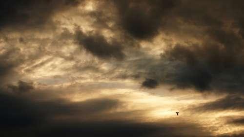 Air Dark Heaven Clouds Storm Outdoor Background