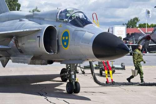 Air Force Viggen Ajs 37 Saab Jet Sweden