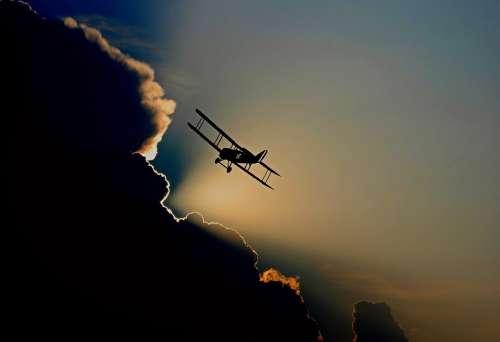 Aircraft Double Decker Propeller Plane Flying