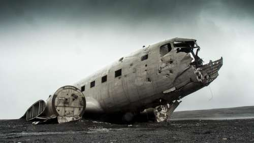 Airplane Wrecked Plane Aircraft Crash Disaster