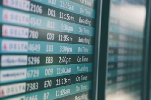 Airport Travel Flights Times Transportation