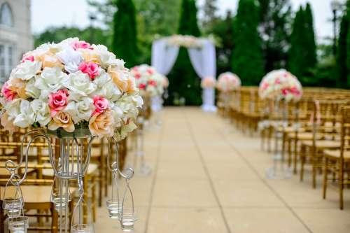 Aisle Bloom Blossom Bouquet Celebration Chairs