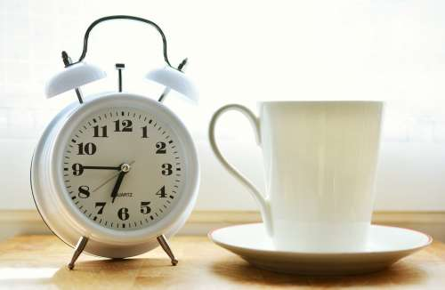 Alarm Clock Time Of Good Morning Stand Up