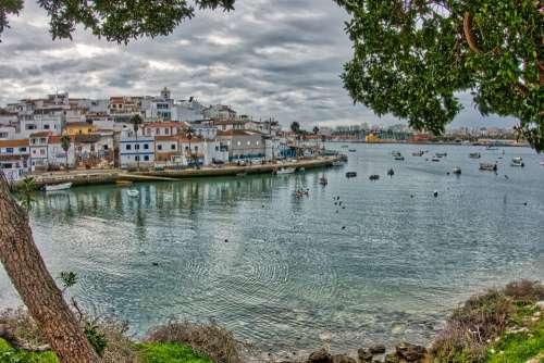 Algarve Portugal Bay Tourism Mar Ferragudo