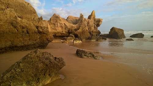 Algarve Portugal Summer Beach Sea Landscape