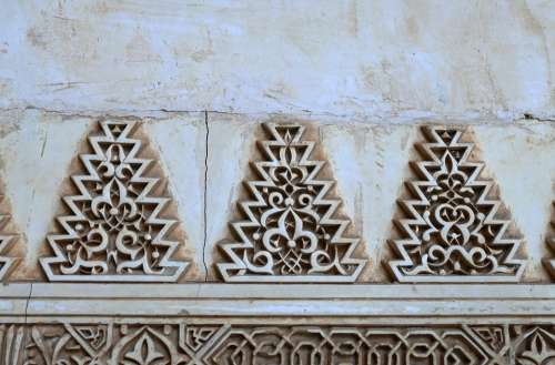 Alhambra Granada Andalusia Spain Motive Decoration
