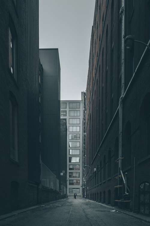Alley Street City Cityscape Urban Dark Gloomy