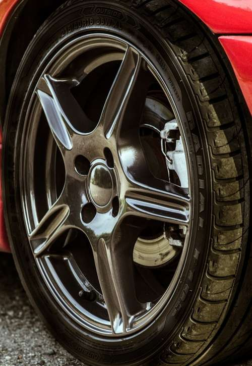 Alloy Wheels Sports Car Car Black Rims Auto Tire