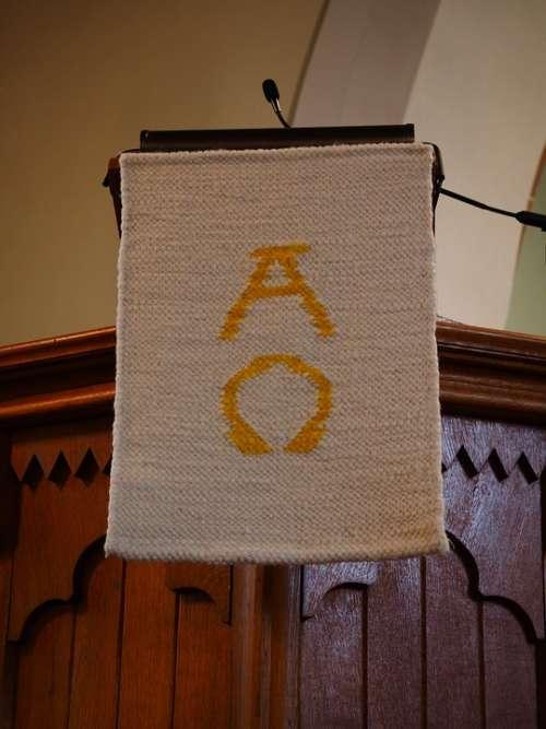 Alpha Omega Symbols At The Beginning End God