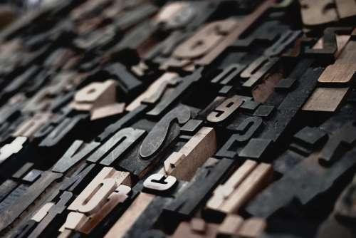 Alphabets Blur Close-Up Focus Letter Wooden Write