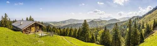 Alpine Mountains Mountain Hut Landscape Nature