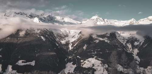 Alpine Dolomites Italy Mountains Nature Landscape