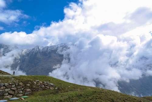 Alpine Pitztal Mountains Clouds