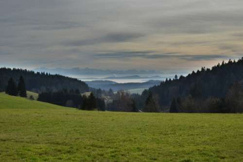 Alpine Autumn Mountains Switzerland Landscape