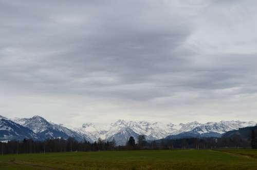 Alpine Allgäu Mountains Panorama