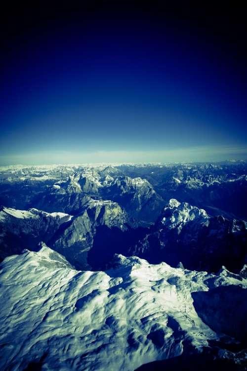 Alpine Mountains Austria Hike High Mountains
