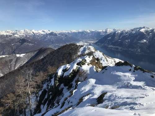 Alpine Route Alps Alpine Adventure Walk Sky Tops