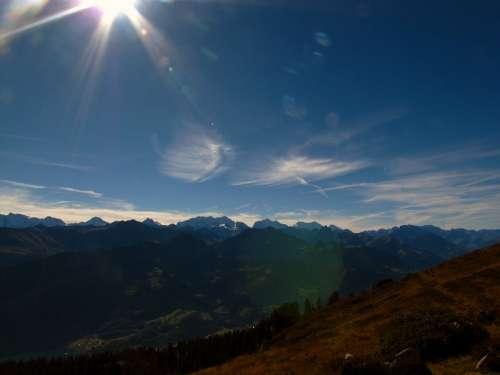 Alps Mountains Switzerland Mountain Light