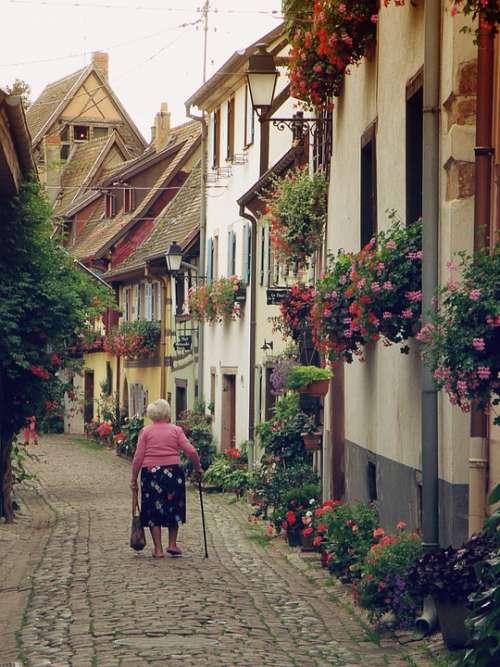 Alsace France Historical Romantic Street