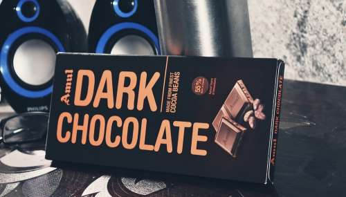 Amul Dark Treat Chocolate Speakers Desk