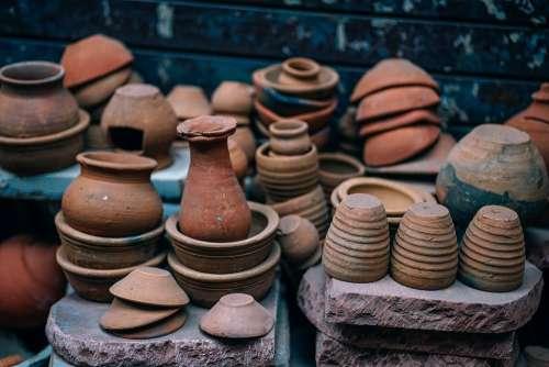 Ancient Pottery Pots Clay Antique Art Artisan