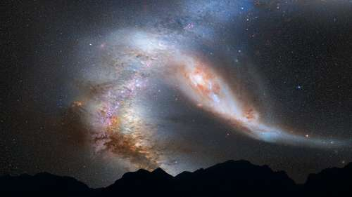 Andromeda Galaxy Milky Way Collision Space Stars
