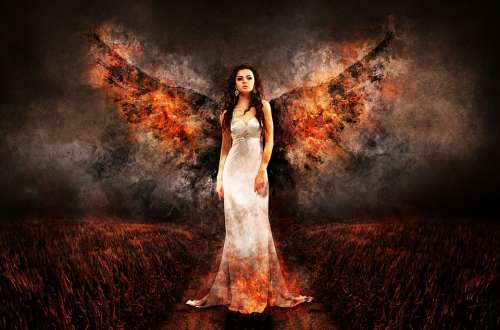 Angel The Witch Hell Archangel Luzifer Woman Wing